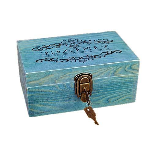 YZJL Sieraden organizer box Sieraden Dozen Grote Houten Sieraden Kist Met Deksel Opbergdoos Voor Sieraden doos
