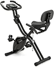 Folding Exercise Bike with 10-Level Adjustable Magnetic Resistance | Upright and Recumbent Foldable Stationary Bike is the Perfect Workout Bike for Home Use for Men, Women, and Seniors (Black)