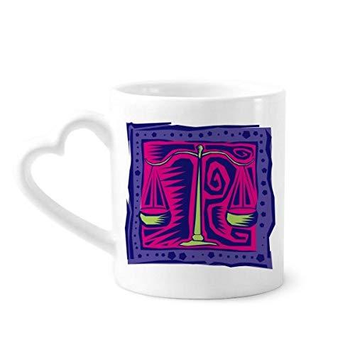 DIYthinker Constellation Libra Mexicon Kultur Gravieren Kaffeetasse Keramik Keramik-Schale mit Herz Griff 12 Unzen Geschenk Mehrfarbig