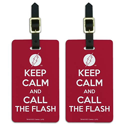 The Flash Keep Calm and Call Luggage ID Tags Suitcase Carry-On Cards - Set of 2