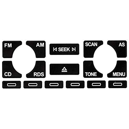 XHSM para Audi A4 B6 B7 / A6 / A2 A3 8L / P Botón De Fijación AS/TP Radio Multimedia para Coche Estéreo Desgastado Botón De Pelado Pegatinas De Reparación Decoración Coche
