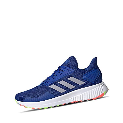 adidas Duramo 9, Running Shoe Unisex-Child, Team Royal Blue/Glory Grey/Signal Green, 38 EU