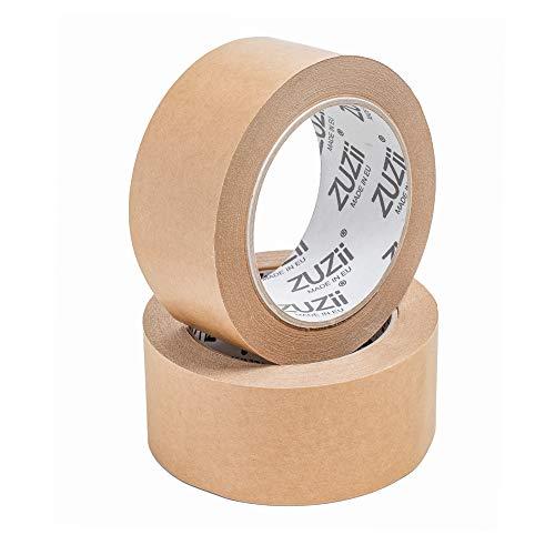 Zuzii Papier Klebeband   Kraft Packband   Eco Umweltfreundlich   48mm x 50M   4 Rollen Pack
