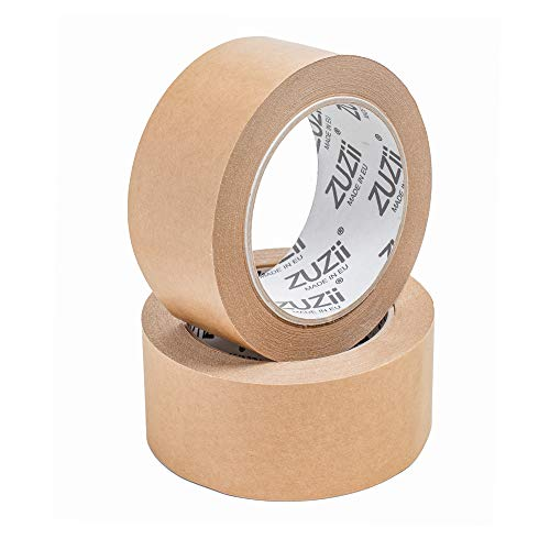 Zuzii Papier Klebeband | Kraft Packband | Eco Umweltfreundlich | 48mm x 50M | 4 Rollen Pack