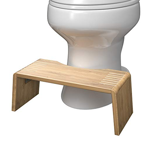 Squatty Potty Oslo Folding Bamboo Toilet Stool - 7' Collapsible