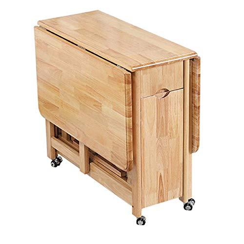 NBVCX Decoración de Muebles Cocina Mesa de Comedor Mesa de Madera de tamaño pequeño Mesa Plegable Hogar Moderno Mesa Rectangular Simple telescópicamente movible (Color: Yel Tamaño: 132x90x75cm)