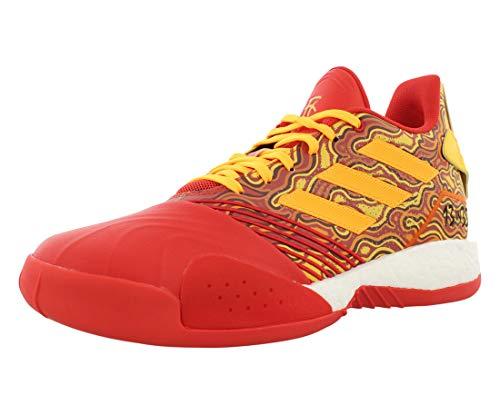 adidas Tmac Millennium Chaussures de basketball pour homme, rouge (Écarlate/doré métallisé/rouge.), 50 EU