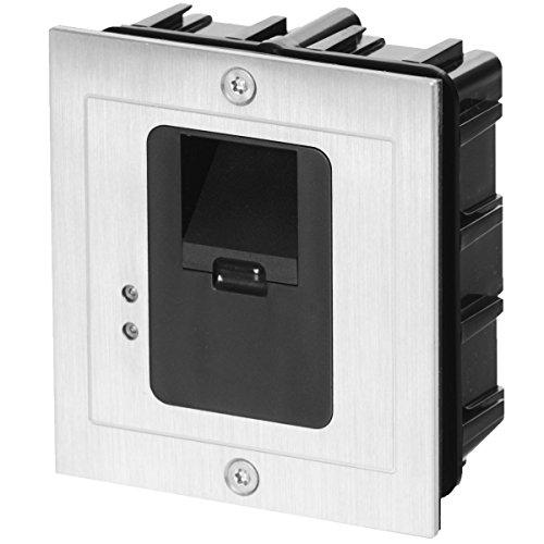 AE AE-601Z2 Unterputz-Fingerprint-Zutrittskontroller mit externer Auswerteeinheit (2 Zonen) und Netzteil, wetterfest IP65, 12 V