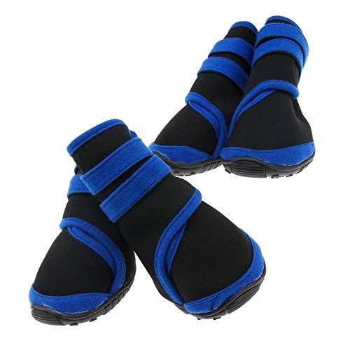 4 Stks Waterdichte Huisdier laarzen Beschermende Schoenen Alle Weer L Size