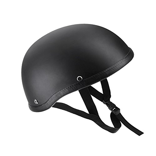 KKmoon Casco de Moto Abierto Media Cara Casco Negro Mate Casco de Protección para Moto Scooter