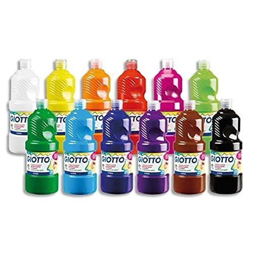 GIOTTO Extra Quality, Malfertige Temperafarbe höchster Qualität, 8 Farben x 1000 ml Set 2