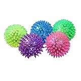 TrifyCore Juguetes para mascotas, 1 pelota de goma para cachorro, perro, gato, mascota, pelota de sonido, juguete divertido