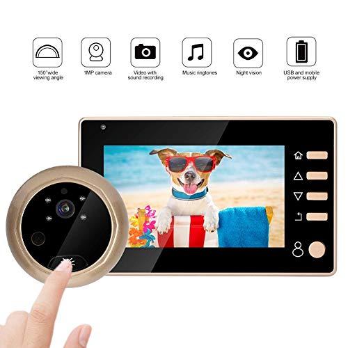 Digitale kijkgaatje 4,3 inch home video kijkgaatje 1MP HD 960 * 480 resolutie bewakingscamera 150 ° optische bewaking van foto's voor beveiliging thuis