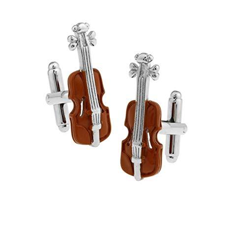 WYLCDGEOOGemelos Moda Instrumento Musical Violín Gemelos Color Marrón Diseño
