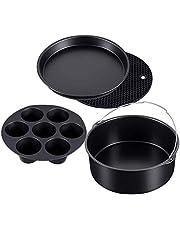 Lopbinte 4 Set Pressure Cooker, Steamer & Air Fryer Bakeware Accesories Compatible for Ninja Foodi 5&6.5&8 QtOP101 OP301 OP302