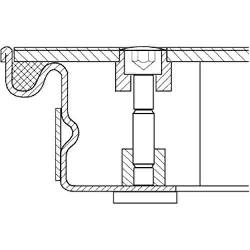 ZARGES Schachtabdeckung Aluminium 800 x 800 mm