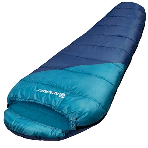 Bessport Mummy Sleeping Bag | 45-6℉ Extreme 3-4 Season Sleeping Bag for Adults Cold Weather– Warm and Washable, for Hiking Traveling & Outdoor Activities
