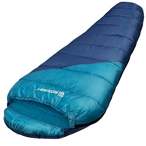 Bessport Schlafsack 3 Saison Outdoor Mumienschlafsack leicht - Schlafsack Warm für Indoor und Camping Bergsteigen