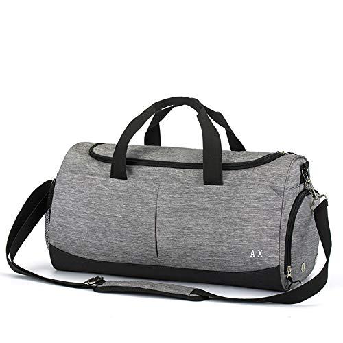 AX ボストンバッグ メンズ ダッフルバッグ レディース スポーツバッグ 大容量 乾湿分離 (グレー)