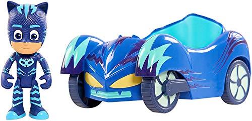 Giochi Preziosi - Super Pigiamini PJ Masks Veicolo Gattomobile con Personaggio Gattoboy, PJM03200