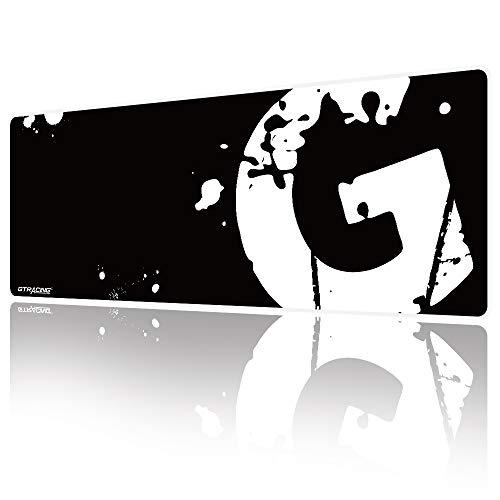 GTPLAYER XL Gaming Mauspad groß-800x300 mm-Genähten Kanten-rutschfest-Mauspad für Gamer, Office & Home-Schwarz