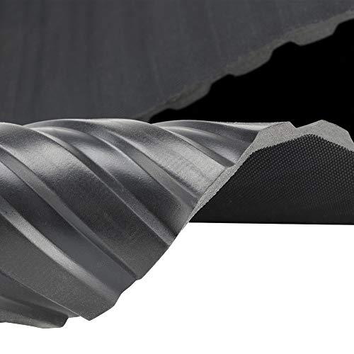 Breitriefenmatte | 3m² 1,2 x 2,50m [Größe wählbar] Stärke: 3mm | Farbe: Schwarz