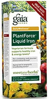 Gaia Herbs Plantforce Liquid Iron, 16 oz (Pack of 2)