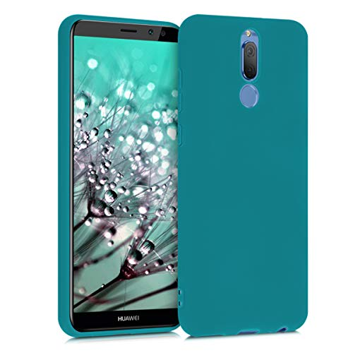 kwmobile Cover Compatibile con Huawei Mate 10 Lite - Custodia in Silicone TPU - Backcover Protezione Posteriore- Petrolio Matt