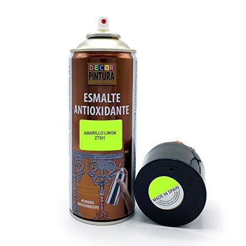 Pintura Spray Amarillo Limon 400ml ANTIOXIDANTE para metal / anti oxido para metales, hierro, aluminio, acero / Para exteriores - interior aplicación sin imprimacion