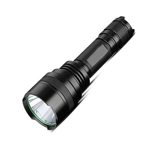 Ligera fuerte Linterna de largo alcance LED recargable linterna táctica Riding emergencia al aire libre Linterna Negro, batería de larga duración Xping