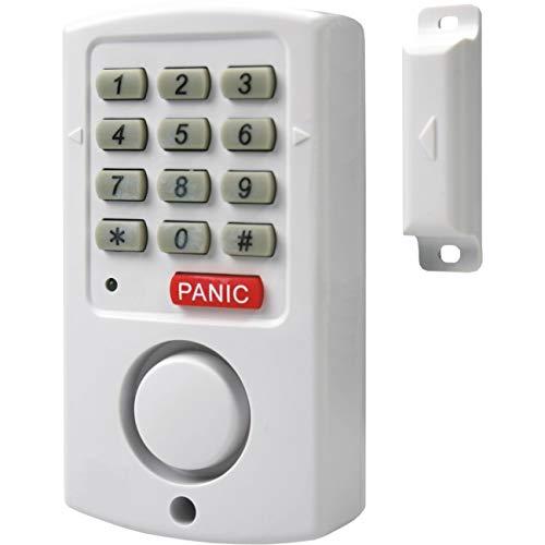 Elro SC11 Contacto magnético 10.041.12 Smartwares SC11-Alarma para Puertas y ventanas-105 dB-Teclado