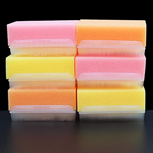 Cepillo de baño para bebés, Cepillo de masaje para el cuero cabelludo del bebé, Cepillo de baño para bebés Cepillo sensorial y Esponja de baño estéril Cepillo de doble cara (6 Piezas)