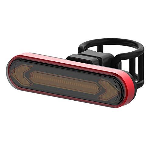 sharprepublic Luz Trasera de Bicicleta Inteligente con Intermitentes y luz de Freno automática luz Trasera de Bicicleta de Control Remoto inalámbrico luz Trasera - Rojo