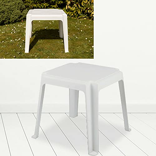 Garden Patio Coffee Side Table Outdoor Deck Chair Bistro Plastic Side Table White