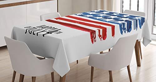 ABAKUHAUS 4 de Julio Mantele, Bandera de EE.UU, Fácil de Limpiar Colores Firmes y Durables Lavable Personalizado, 140 x 200 cm, Multicolor
