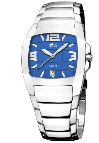 Lotus Shiny 15314-4 - Reloj de caballero de cuarzo con correa de acero inoxidable plateada