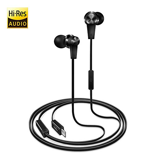 TriLink USB Typ C Ohrhörer (Hi-Res & DAC Chipsatz) In Ear Kopfhörer mit Mikrofon für iPad Pro/MacBook/Air, Huawei P30/P20/Pro/Mate 20/Mate 10, OnePlus 6/6T/5/5T, Xiaomi mi a2, Google Pixel 3, HTC U12