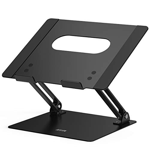 """Besign LS10 Aluminum Laptop Stand, Ergonomic Adjustable Notebook Stand, Riser Holder Computer Stand Compatible with Air, Pro, Dell, HP, Lenovo More 10-15.6"""" Laptops, Black"""