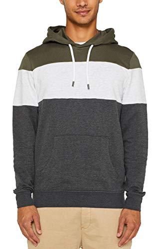 edc by ESPRIT Herren 089Cc2J008 Sweatshirt, Grün (Khaki Green 350), X-Large (Herstellergröße: XL)