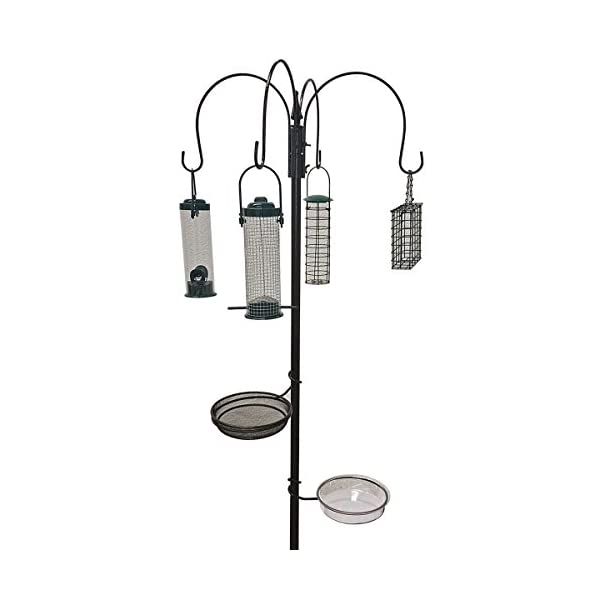 Crystals Garden Wild Bird Feeder Feeding Station with Water Bath Table, Seed Tray and Hanging Feeders