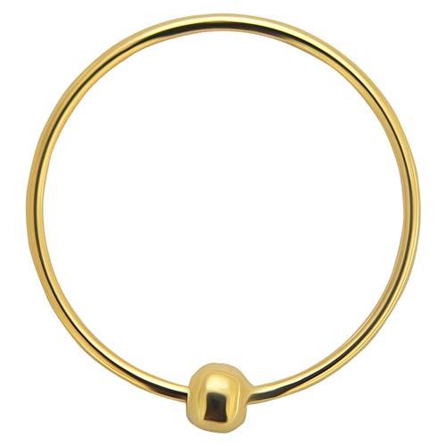 14K Solid Gelb Gold 20 Gauge - 10MM Durchmesser Captive Bead Nase Piercing Ring Schmuck