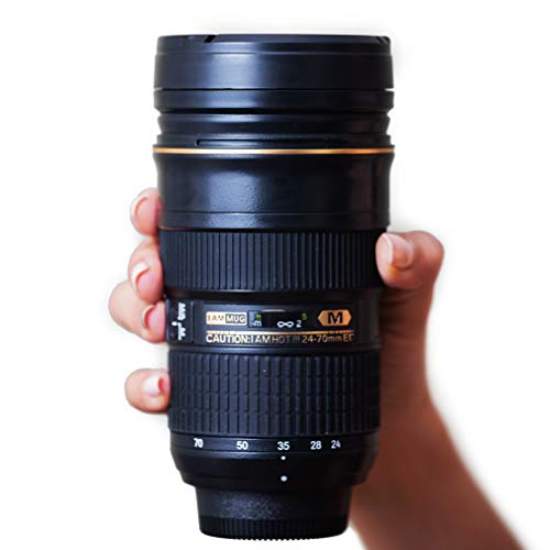 I am Mug Nikon 24-70mm Inspired Camera Lens Coffee Mug | Unique 12 Ounce Coffee Travel Mug | Unique Present for Photographers | Best Present Under 50 Dollars