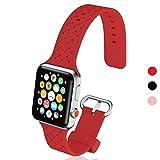 steanum Kompatibel für Apple Watch Armband 38mm/40mm,42mm/44mm, Klassisches Gewebtes Muster Soft...