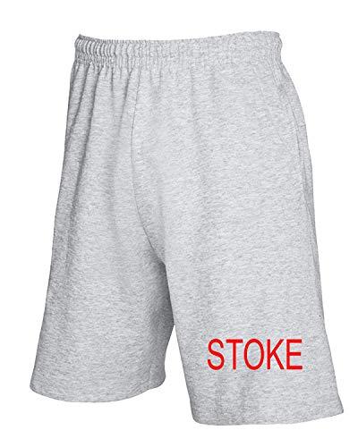 T-Shirtshock Jogginghose Shorts Grau WC0688 Stoke City