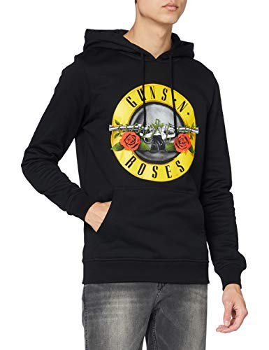 MERCHCODE Herren Guns n' Roses Logo Kapuzenpullover, black, L