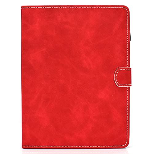 zl one - Carcasa para tablet PC de 10 pulgadas (piel sintética, universal), color rojo