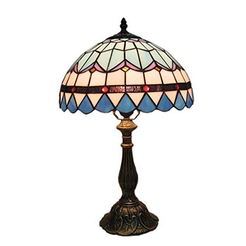 YANQING Duurzame 12 Inch Tiffany/Traditionele/Klassieke Arc Bureau Lamp Voor Hars, Dimmerswitch Kroonluchter