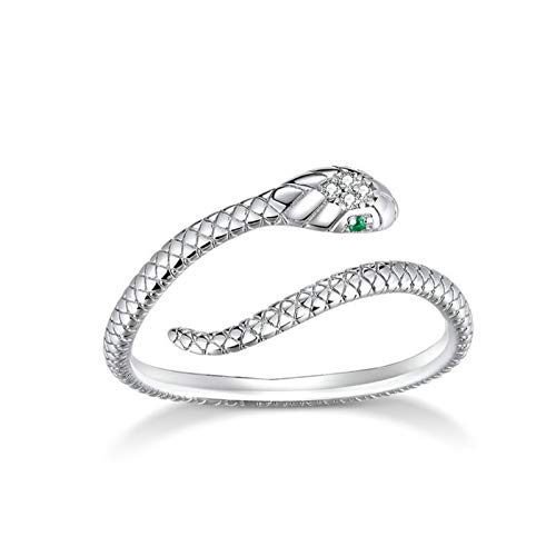 CHAW S925 Anillos de plata para abrazos, anillo de serpiente, anillo ajustable abierto, manos abrazos, anillo de promesa abierto, joyería, regalo del día de San Valentín para mujeres, niñas, hombres
