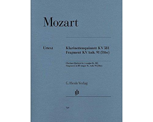 Quintett a-Dur KV 581 + Fragment KV Anh 91 (516c). Klarinette, 2 Violinen, Viola, Violoncello
