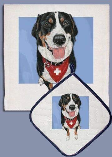 Animal Theme Popular standard Philadelphia Mall Gifts Greater Swiss Dog Pot Dish Mountain Towel